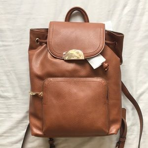NWT Brown Aldo Backpack Purse